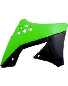 Acerbis Radiator Shrouds KXF450 09-11 Green/Black