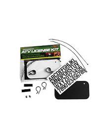 ATV Number Plate Registration Kit Black