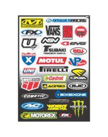 NEW Decal Sponsor Sticker Kit Micro Kit Motocross MX Factory Effex ATV UTV