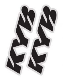 Factory Effex KYB Fork Decal Kit
