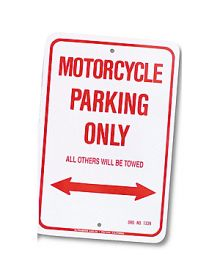 Motorcycle Parking Only Parking Sign