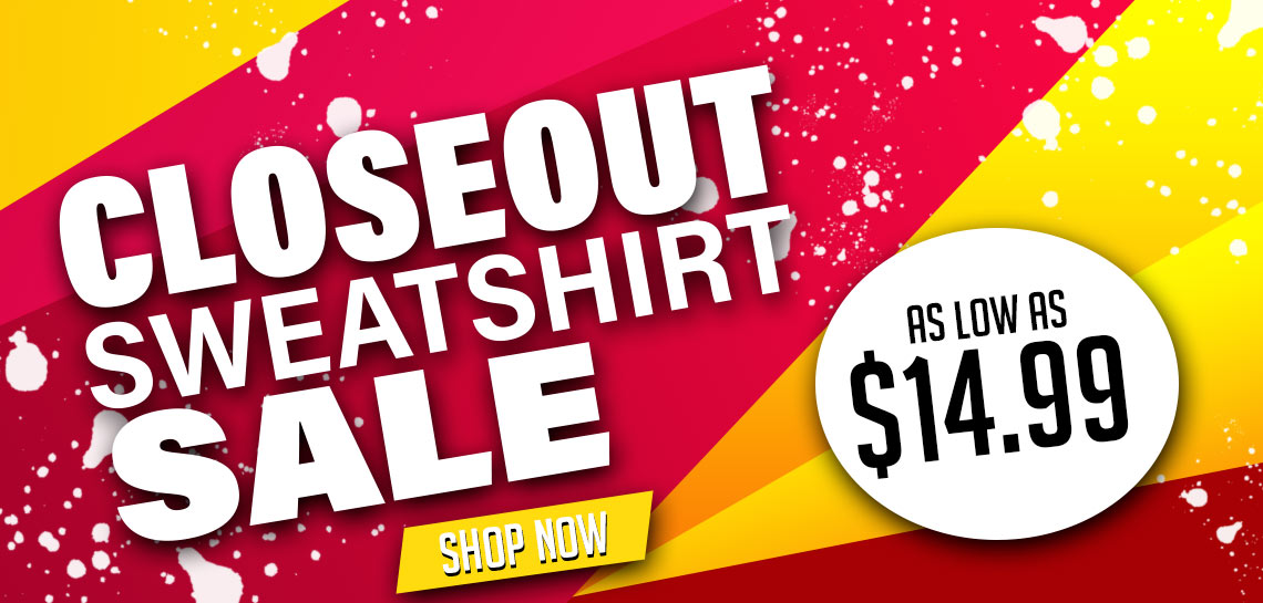 Closeout Sweatshirt Sale